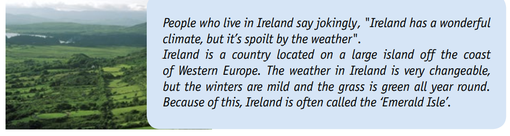 People who live in Ireland ..